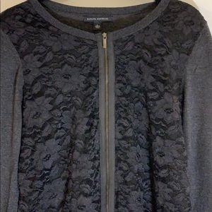 BANANA REPUBLIC zip blouse size L